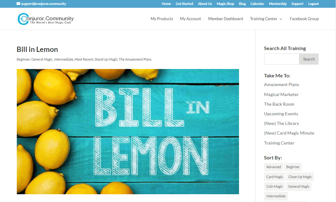 bill in lemon conjuror community
