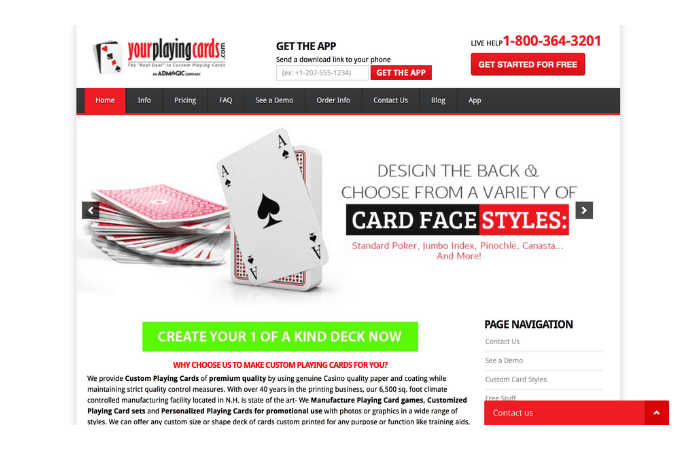 Cheap Custom Playing Cards Homepage