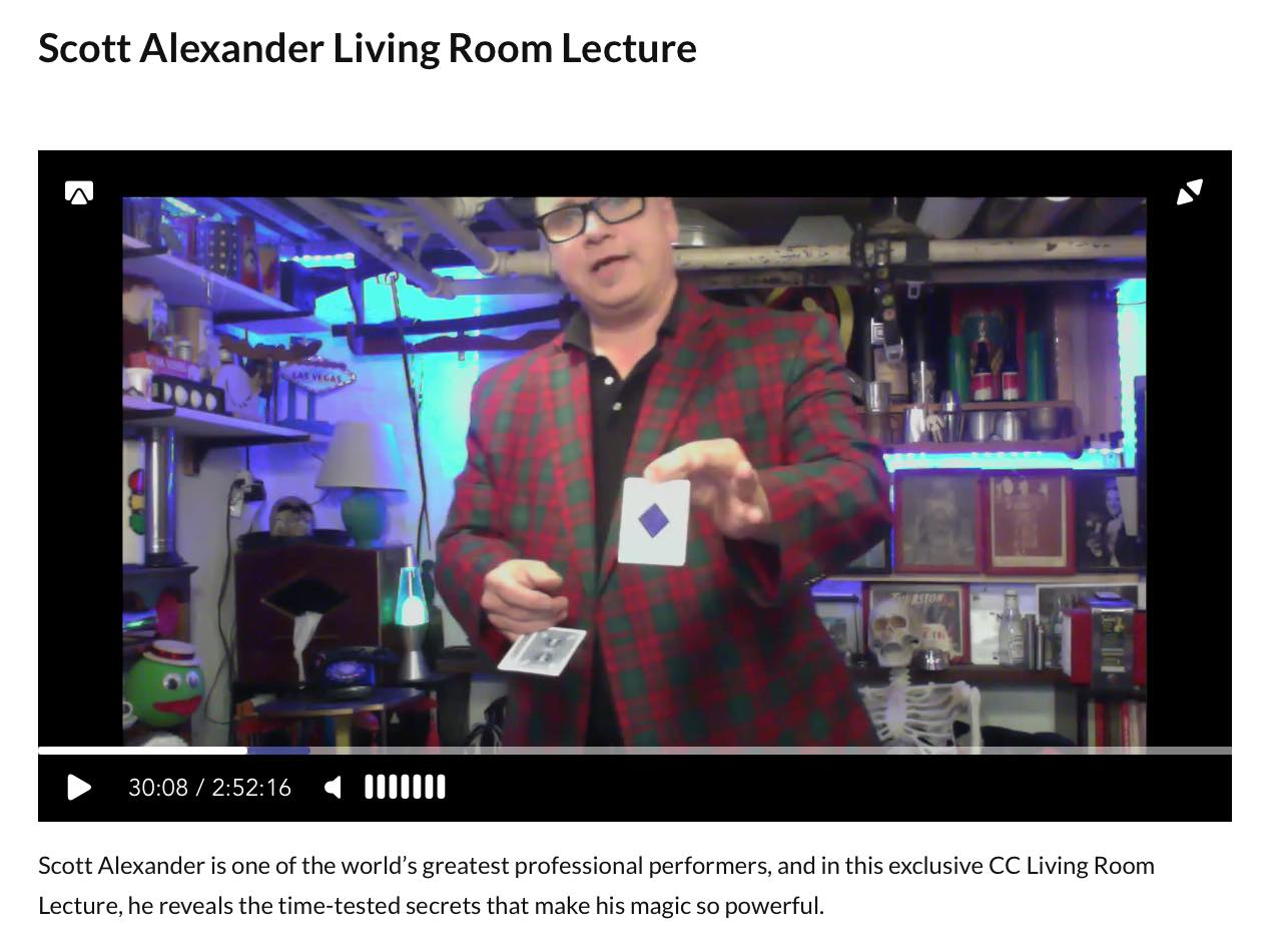 Scott Alexander Lecture