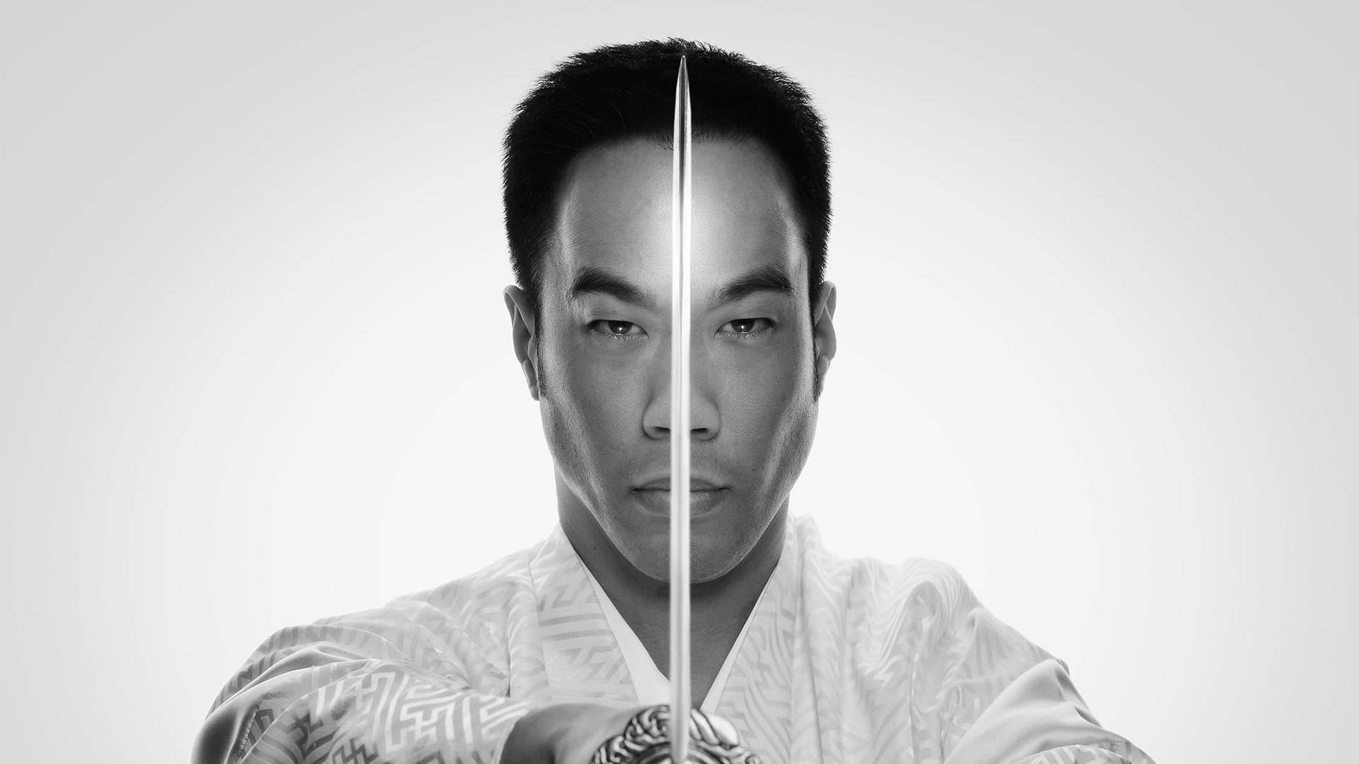 Ryan Hayashi with Samurai Sword