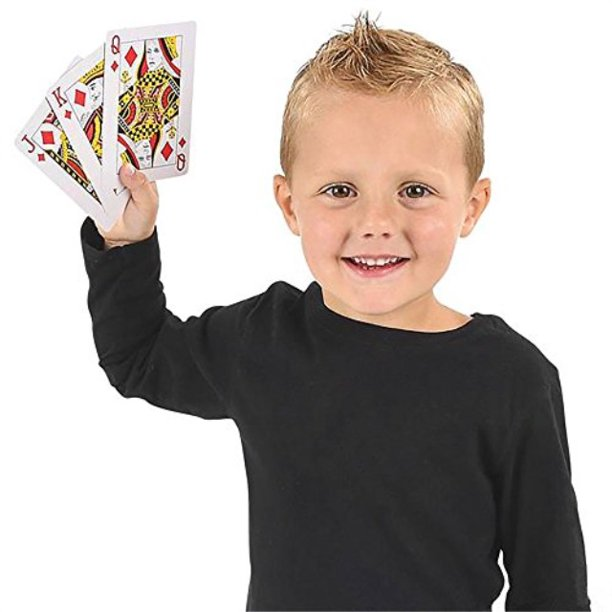 Kid with a Deck of Cards